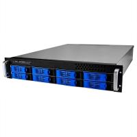 Серверный корпус 2U NR-R2008 2x400Вт 8xHot Swap SAS/SATA (ATX 10x12, int 3.5, 550mm),черный,Negorack